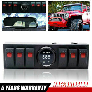 For 09 17 Jeep Wrangler Overhead 6 switch Pod Toggle Switch Panel Control System