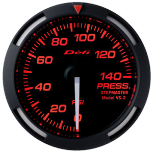 Defi Red Racer 52mm Pressuure Guage With White Needle Df06607