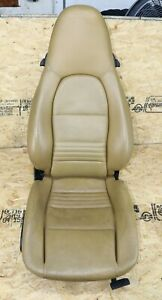 Front Right Passenger Side Leather Seat Oem Porsche 986 Boxster 996 Carrera Tan