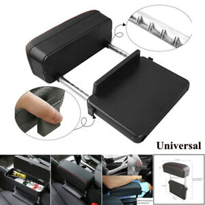 Universal Car Wireless Charger Armrest Storage Box Leather Center Console Parts