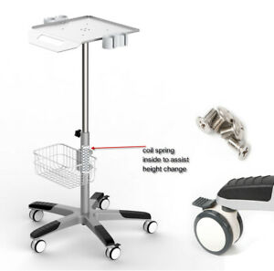 Lab Trolley Cart Mobile Roll Wheel Ultrasound Stand For Ultrasound Scanner Us