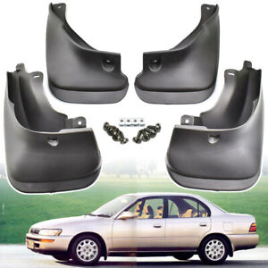Black 1set Mud Flaps Splash Guards Mudguards For Toyota Corolla Sedan 1993 1998