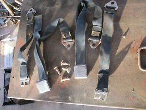 64 65 Fury Savoy Satellite Belvedere Rear Seat Belts Buckles Bolts Oem Original