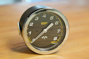 Vw Bug Ghia Isp 85mm 8 000 Rpm Carbon Fiber Race Look Tachometer Dash Gauge