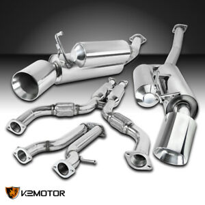 For 2009 2018 Nissan 370z Fairlady Z Dual Catback Exhaust System Stainless Steel