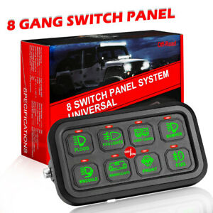 8 Gang Switch Panel Electronic Relay Circuit Control System Led Work Light Bar