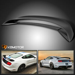 Fit 2015 2019 Mustang Gt350r Style Rear Trunk Wing lower Spoiler Primer Black