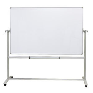 Viz pro Mobile Whiteboard Non Magnetic Dry Erase Board Double Sided With Stand
