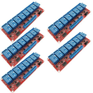5pc 12v 8 channel Relay Module With Optocoupler H l Level Triger For Arduino Lot