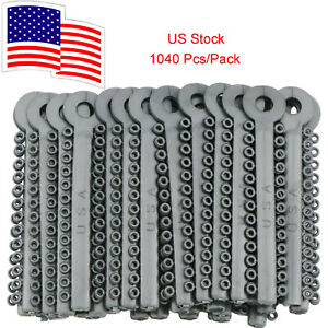 Usa Dental Orthodontic Elastic Silver Grey Rubber Bands 1040 Pcs Ligature Ties
