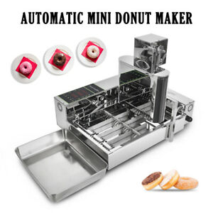 Commercial Electric Automatic Donut Machine Doughnut Fryer Maker Stainless Steel