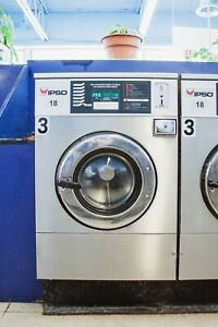 Ipso Washer 18lb Coin 220v 3ph In Use