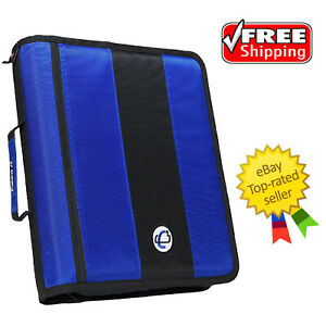 Case it Classic O ring Zipper Binder Blue 2 Inches Free Shipping