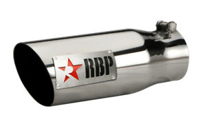 Rbp Rx 1 Polished Dual badged Exhaust Tip Inlet 3 5in Outlet 4 5in Length