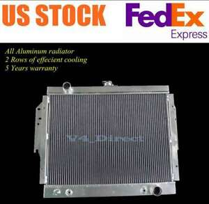 2 Row Aluminum Radiator For 79 93 Dodge D W 100 200 250 350 Ramcharger 5 2l 5 9l