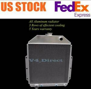 Aluminum Radiator Fit 1948 1952 Ford F1 F2 F3 F4 F Serie Ford Engine Only 3 Row