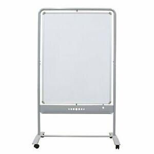Viz pro Mobile Whiteboard Magnetic Dry Erase Board Double Sided With Steel Stand