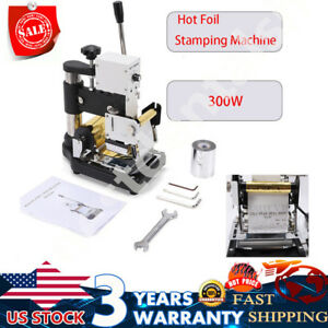 Hot Foil Stamping Machine Tipper Stamper Bronzing Card Foil Logo Embossing Tool