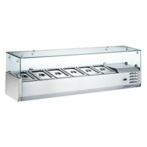 Coldline Vrx1500 60 Refrigerated Salad Bar Topping Rail 6 X 1 3 Pans