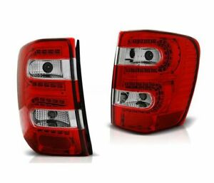 Tail Lights Ldch08 Chrysler Jeep Grand Cherokee 1999 2000 2005 Red White Led
