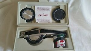 Dymo System Deluxe Tapewriter Kit With Embossing Tool Esselte 1570 In Case