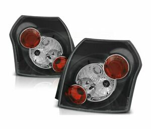 Tail Lights Ltto02 For Toyota Corolla 2001 2002 2003 2004 2005 2007 Hb Black