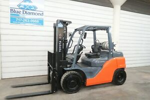 2015 Toyota Forklift 8fg35u 8 000 Pneumatic Lp Gas Three Stage Sideshift