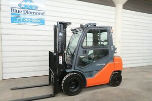 2016 Toyota 8fgu25 5 000 Pneumatic Tire Forklift Lp Gas 3 Stage S s Nice