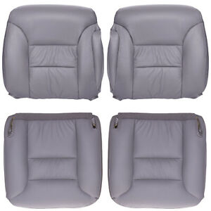 1996 1999 Chevy gmc Truck Full Front Row Factory Match Leather Kit Med Gray