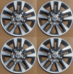 4 New 16 Silver Hubcap Wheelcover That Fit 2007 2018 Nissan Altima Hub Cap