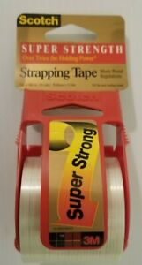 1 Roll Super Strength Scotch 3m Shipping Strapping Tape Dispenser 2 X 10 Yds