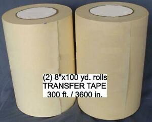 2 8 Rolls Application Transfer Paper Tape 300 For Vinyl Cutter Plotter New