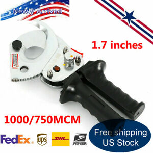 Ratchet Cable Cutter For 1000 750mcm Ratcheting Wire Plier Hand Tool 500 4