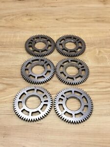 Lot Of 6 Industrial Machine Steampunk Pulley Gear Sculpture Lamp Base