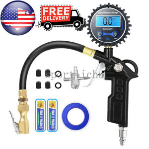 Digital Tire Inflator With Pressure Gauge 300 Psi Air Chuck For Truck car bike