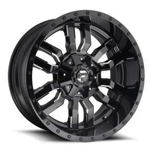 4 17x9 Fuel Gloss Black Mill Sledge Wheels 6x135 6x139 7 For Ford Jeep
