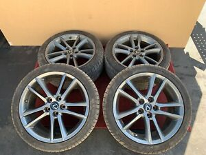 Lexus 2012 Is Is350 F Sport Wheels Rims Set Original Alloy 5 Double Spoke Oem
