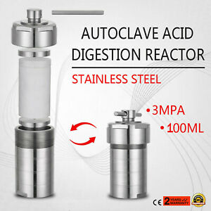 100ml Stainless Steel Hydrothermal Autoclave Reactor W teflon Vessel Synthesis