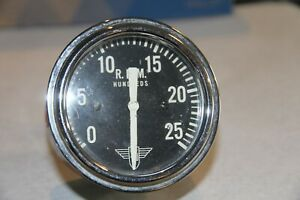 Stewart Warner Curved Glass Winged Tac Tachometer Hot Rat Street Rod Scta Trog