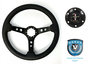 3 Spoke Black Steering Wheel 6 Hole W Pony Horn Button For Ford Mustang