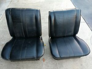 Impala 62 64 Gm Gto Impala Black Seats Excellent Condition Use As They Are