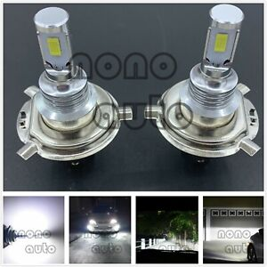 H4 9003 Hb2 Csp Led Headlight High Low Beam Bulbs Kit 6000k White 40w 7000lm