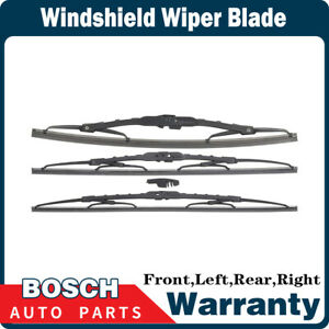 Bosch 3 Pcs Front Rear Windshield Wiper Blade For 2002 2003 Mazda Protege5