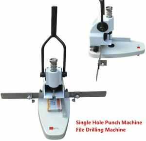 Drilling Machine hole Puncher qy t30 Manual Paper Hole Punch Single Hole File