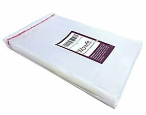 Wowfit 200 Ct 5x7 Inches Clear Cello Cellophane Plastic Bags Re sealable Wrapper