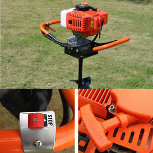 52cc 2 stroke 2 4ps Gas Powered Earth Auger Post Hole Digger 4 6 8 Bits Set