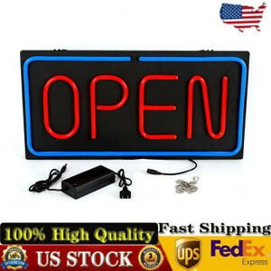 Neon Open Sign 24x12 Inch Led Open Sign 30w Horizontal Sign Open W power Adapter