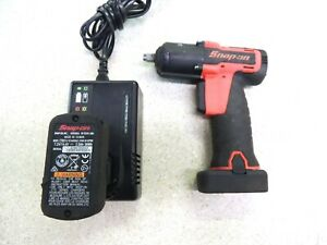 Snap on Ct761ao 3 8 Cordless Impact Wrench W 2 Batteries Charger
