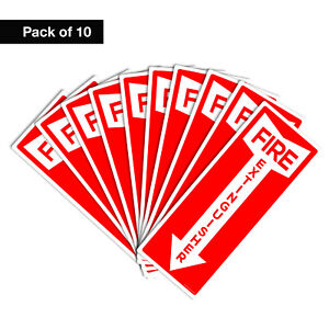 Fire Extinguisher Sticker Sign Safety Signs 4 25 x11 Stickers Set Of 10
