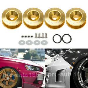 Gold Jdm Quick Release Fasteners For Car Bumpers Trunk Fender Hatch Lids Kit Us